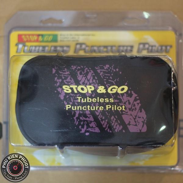 bộ bơm và vá stop go, combo bơm vá stop&go